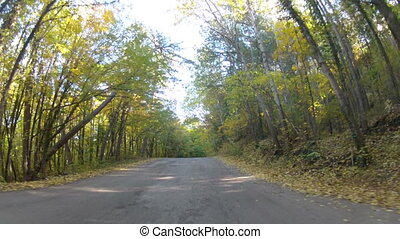 winding mountain road, GoPro - fascinating trip into the...