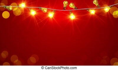 flashing christmas lightbulbs loopable animation - flashing...