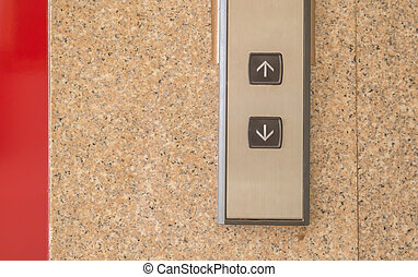 Passenger lift mechanism and control buttons of hotel