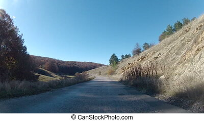road on a mountain plateau, GoPro