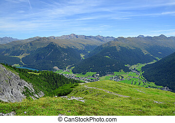 Beautiful alpine landscape with views of the Davos Canton...