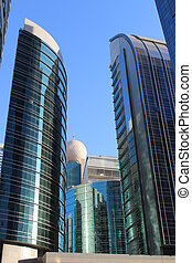 Skyscrapers in business value.