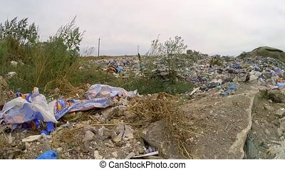 Large Dump Of Wastes At Terrain Outside City - This is a...