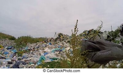 Large Heap Of Wastes And Garbage Outside City In Ukraine -...