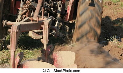 Blades of a Plow - Tractor Ploughing in the Fields