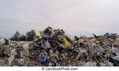 Large Piles Of Garbage And Wastes Outside City - CLOSE UP:...