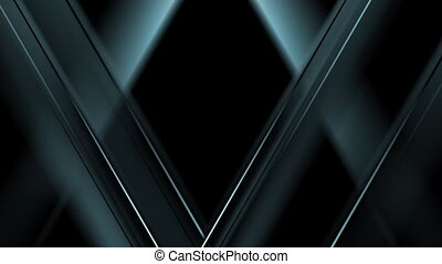 Dark blue tech triangles motion design. Video animation HD...
