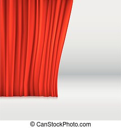 Background with curtain