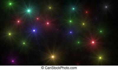 light stars sky 4k