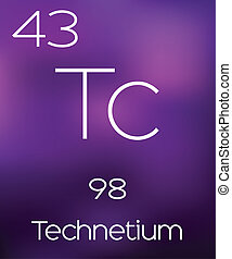Purple Background with the Element Technetium