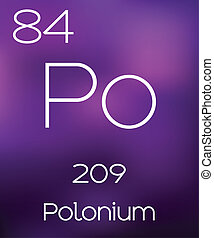 Purple Background with the Element Polonium