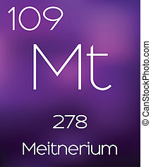 Purple Background with the Element Meitnerium