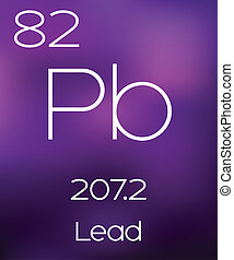 Purple Background with the Element Lead