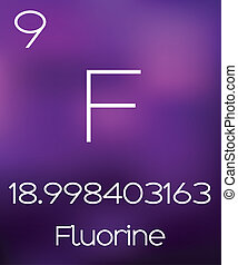 Purple Background with the Element Flourine