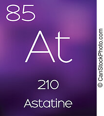 Purple Background with the Element Astatine