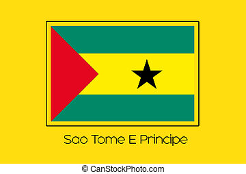 Flag Illustration of the country of Sao Tome E Principe - A...