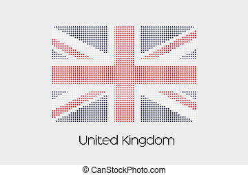 Mosaic Flag Illustration of the country of United Kingdom