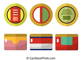 Canned food flat icons set for web and mobile devices