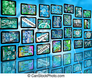 wall of tablets