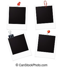 Photo Frames and Pin. Vector