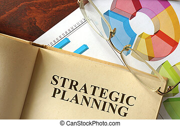 Strategic planning - Book with strategic planning on a...