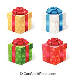Present Box Set. Vector