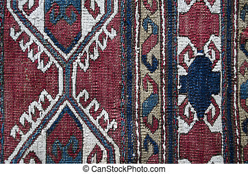 Patterns two-sided woolen carpet - Variants patterns old...