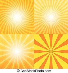 Sunray background set