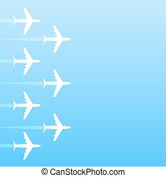 Air transport gradient background, 2d vector, eps 10