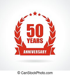 50 years anniversary icon, vector illustration