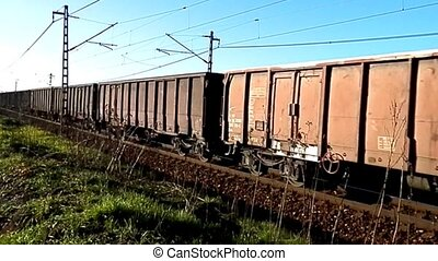 Freight train in the land transport