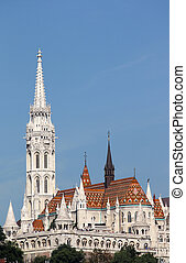 Fisherman bastion and Matthias church Budapest Hungary
