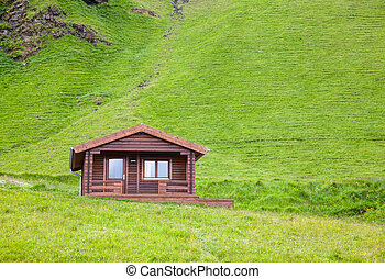 Typical holiday house in Iceland