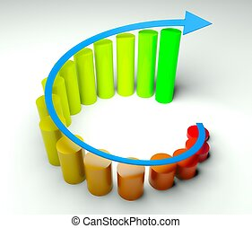 Around business diagram 3d, earnings