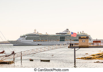 Luxury Cruise Ship by Ticket Booth