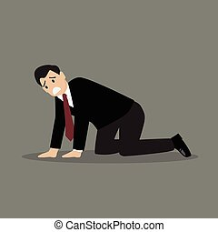 Desperate businessman Vector Illustration