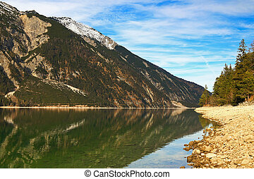 Evening view of Achensee Lake - Evening view of the lakeside...