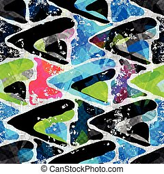 Graffiti Background Urban art seamless pattern