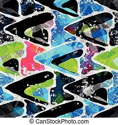 Graffiti Background Urban art seamless pattern