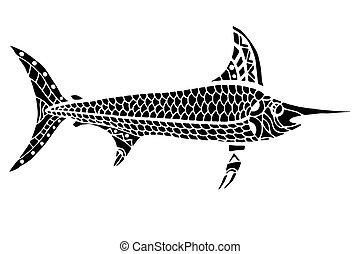Zentangle stylized Fish.