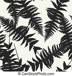 Seamless pattern of fern leaves. illustration of jungle...
