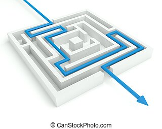 3d Maze Solved, Business Concept