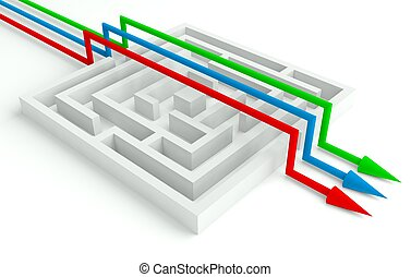 3d Maze Solved by Workgroup, Smart Solution
