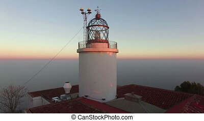 Maritime Lighthouse Aerial Shoot - Mediterranean maritime...