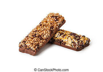 Cereal Bars - Chocolate Cereal Bars on a white