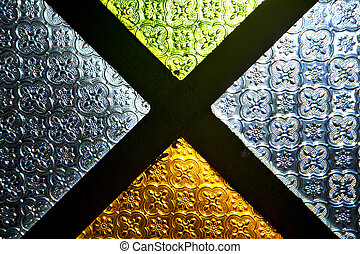 colorated glass and sun light - colorated glass and sun in...