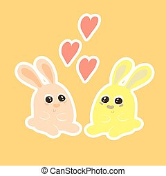 Two lovers hare