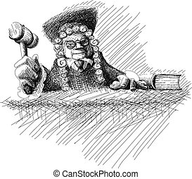 Angry judge Doodle - Doodle Angry judge in mantle and with...