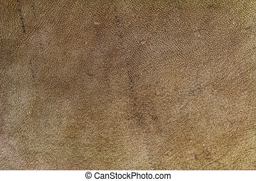 Brown leather made of goat skin - Closeup texture background...