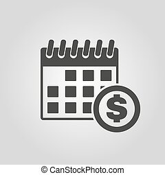 The pay day icon. Tax and payment, dividends symbol. Flat